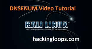 DNSENUM Video Tutorial on Kali Linux by Hackingloops