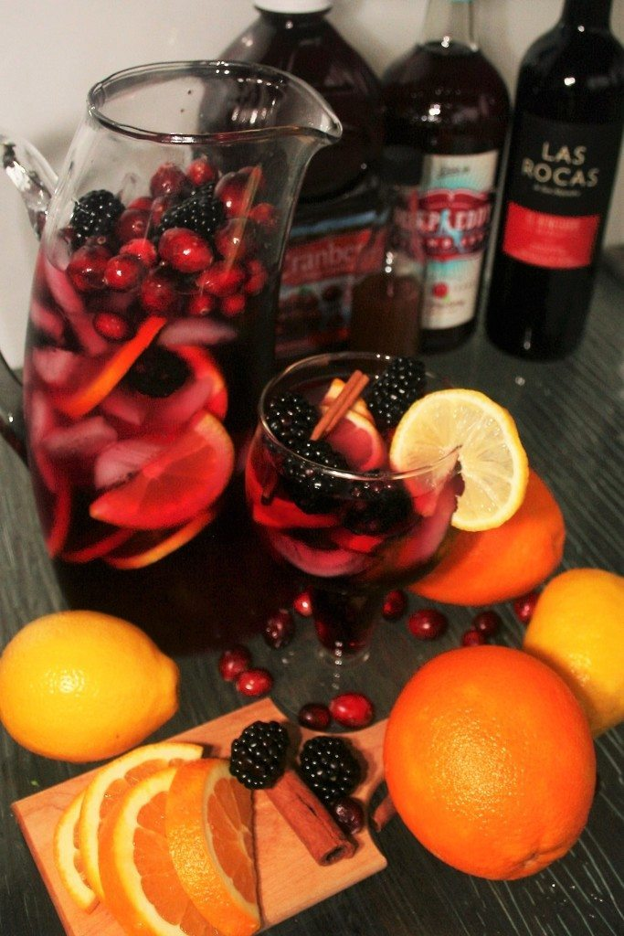 Cranberry Sangria and Cranberry Punch