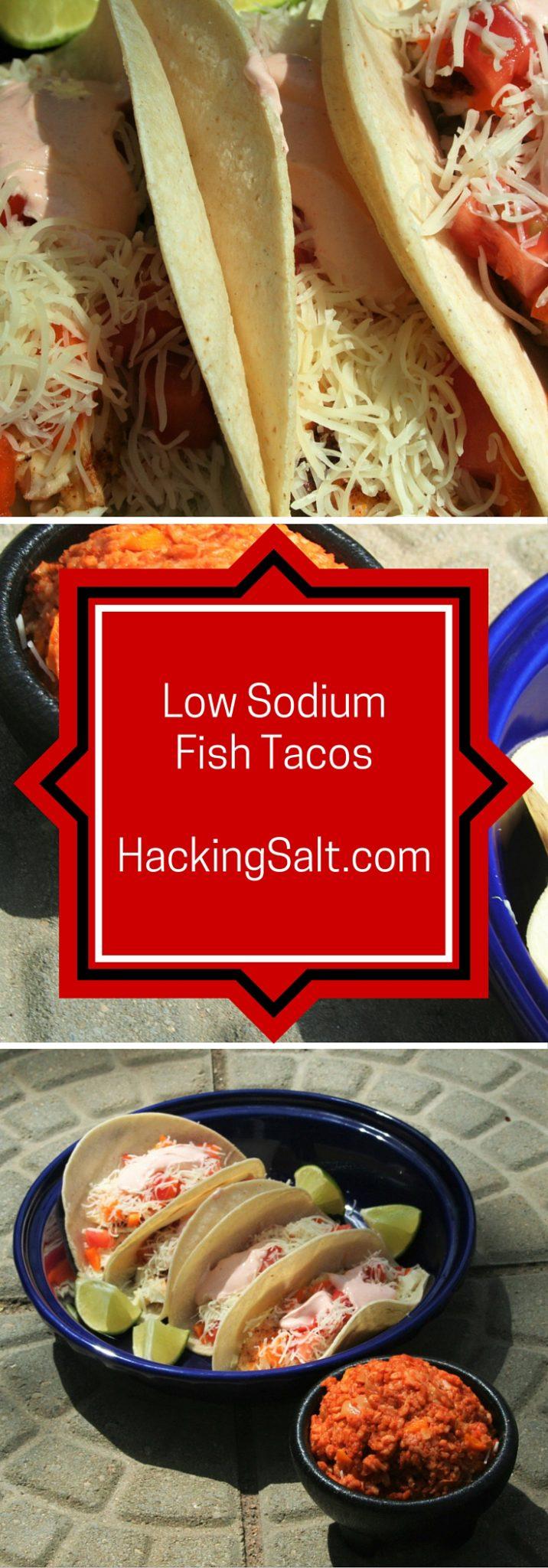 Low Sodium Blackened Fish Tacos