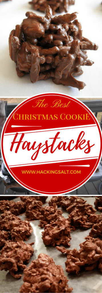 The Best Healthy Christmas Cookies! These Low Sodium Haystacks are Chocolatey, Nutty, & Crunchy! #TheRecipeRedux #lowsodium #hearthealthy