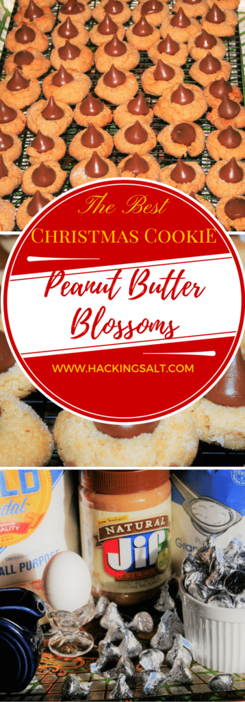 Low Sodium Peanut Butter Blossom Christmas Cookies to keep your Holidays Heart Healthy! #lowsdium #hearthealthy