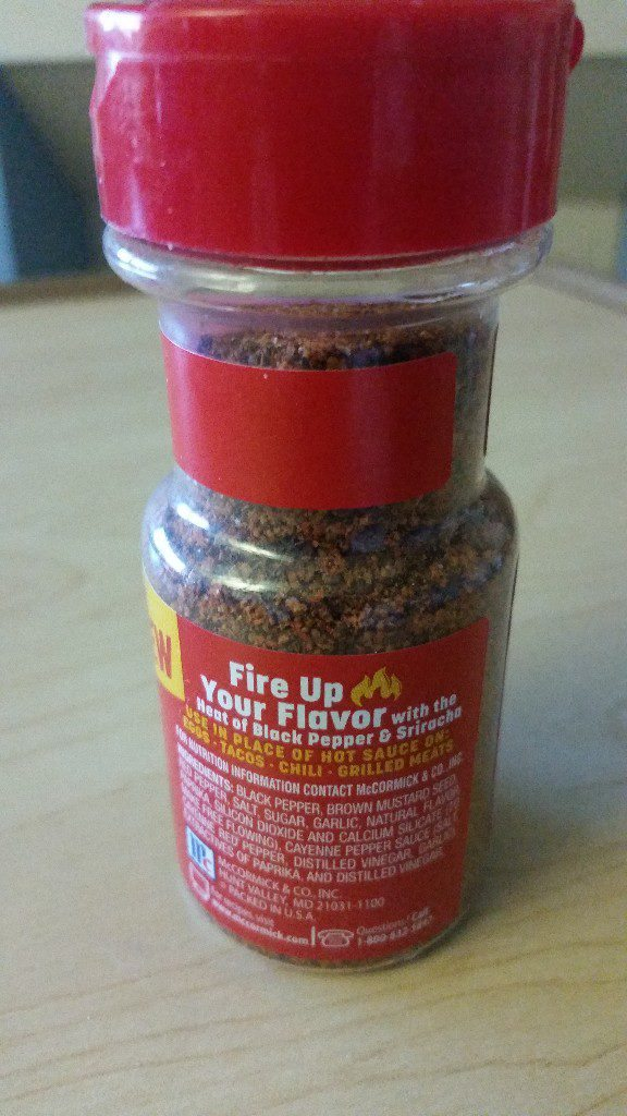 McCormick's New Sriracha Black Pepper Low Sodium Seasoning