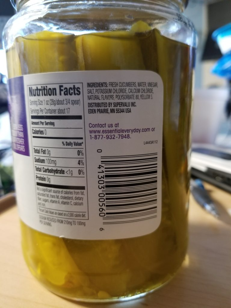 Reduced Sodium Pickles