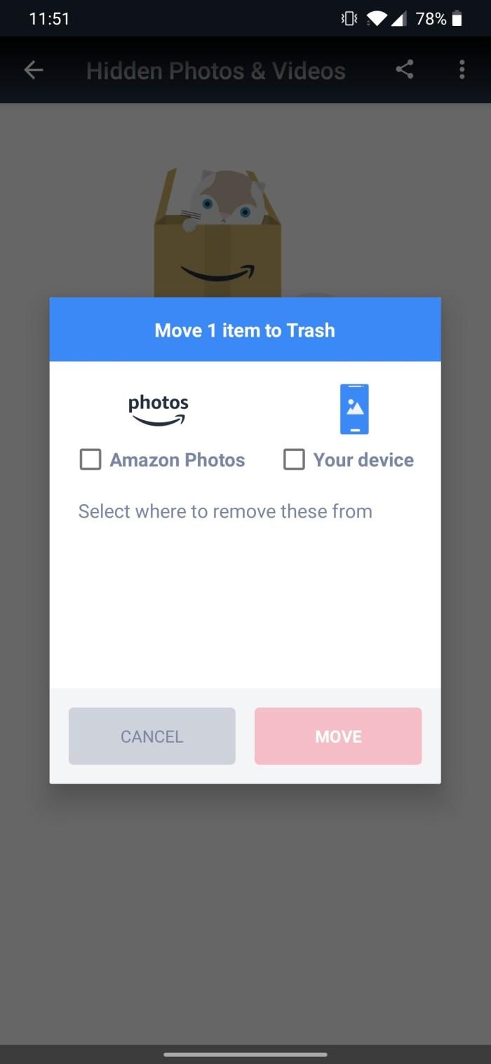 Amazon Photos delete