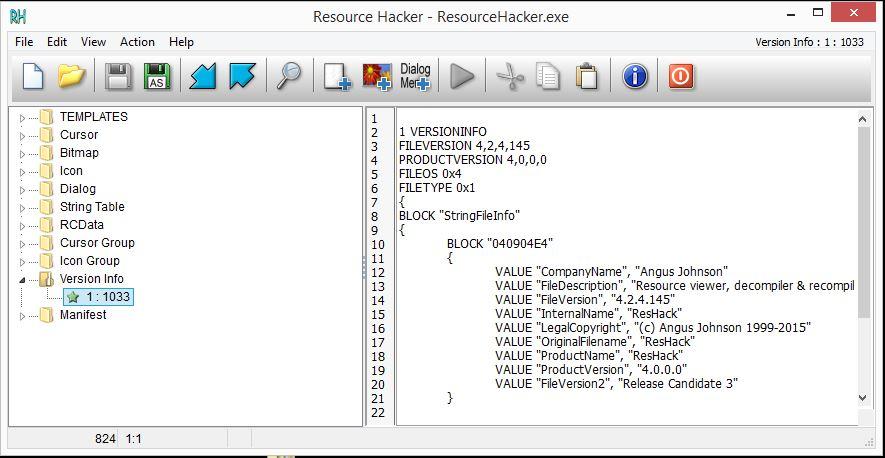 Basic Malware Analysis Tools - Resource Hacker