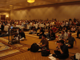 The crowd at our Black Hat Talk