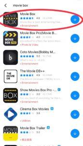 Download Movie box on iOS 12