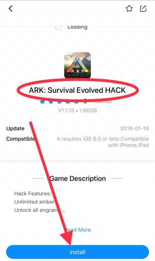 ARK Survival Hack install for iOS