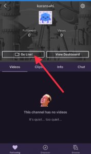 Go Live on Twitch from iPhone