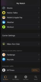 Install apps in Apple watch Series 3