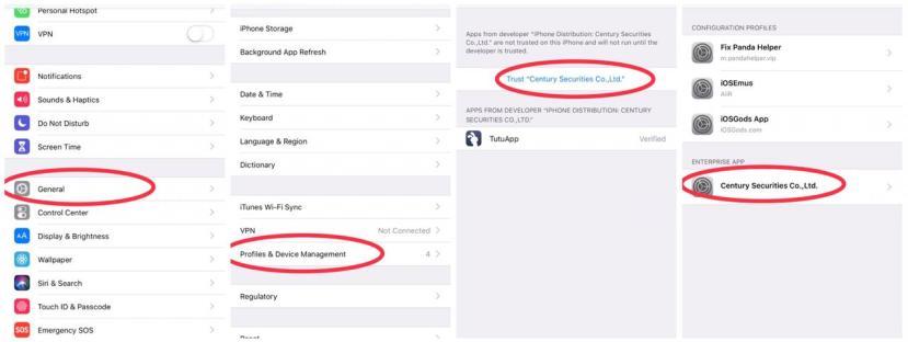 How to trust an app on iOS