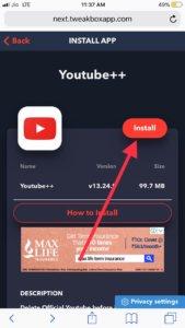 install Youtube++ iOS 13