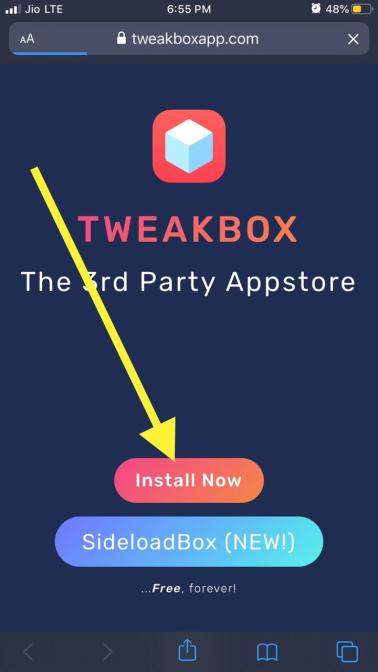 Install Tweakbox in iOS
