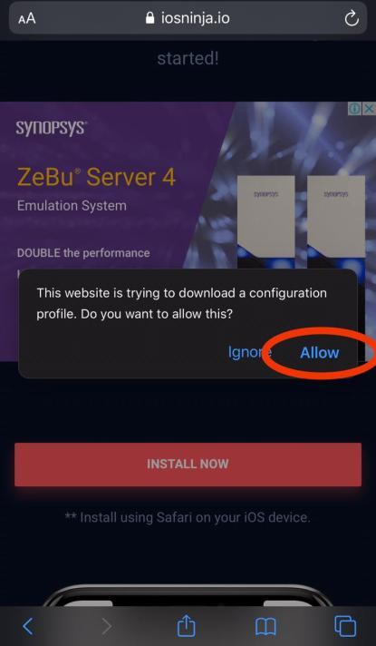 Allow iOSninja