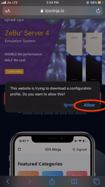 Downloading iOS Ninja