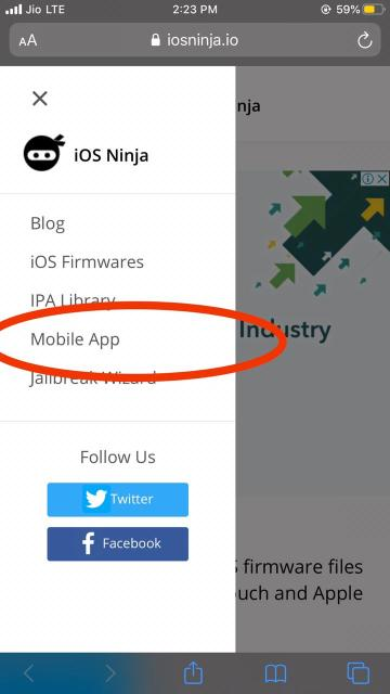 iOS Ninja Mobile App