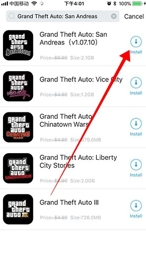 Grand Theft Auto San Andreas free iOS