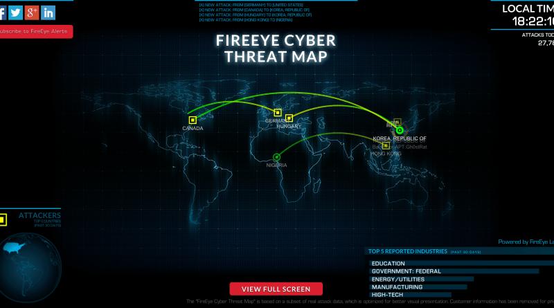 Fire Eye Cyber Threat Map