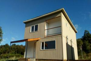 Valdivia Chile Real Estate - Front of House in Pino Huacho 1 - Near Niebla and Valdivia