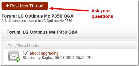 LG Optimus Me P350 Q A