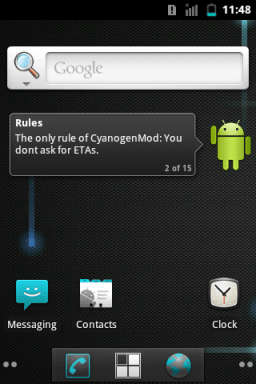 CyanogenMod on HTC Explorer