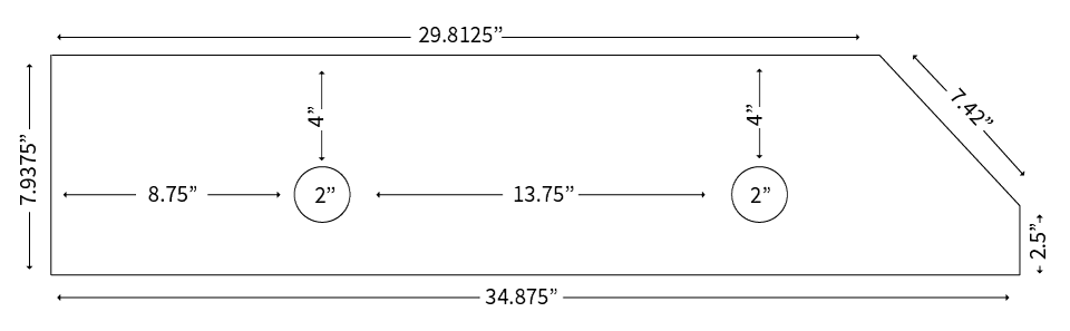 Measurements for a new bar plate.
