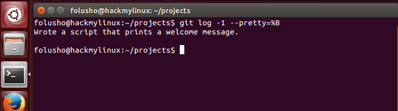 "Step 4.1 - How to read previous Git commit messages - You can get more concise output from ""git log"" using the --pretty=%B argument."
