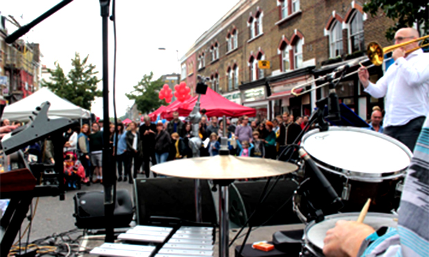 Drummers entertain the crowd at ChatsFest