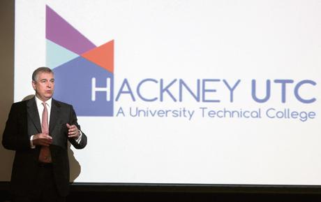 HRH Prince Andrew speech Hackney UTC