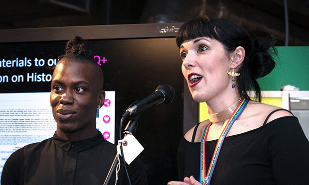 Emma Winch with I'm Empire at the launch of LGBT+ History Month