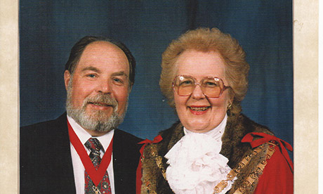 Linda Hibberd and her husband Barrie. Photograph: Hackney Council