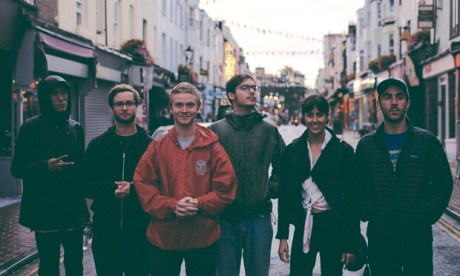 MIRRORS headliners Pinegrove stop for a photo-op on a recent jaunt to Brighton. Photograph: DHP Family