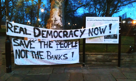 Occupy Hackney banners