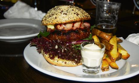 burger at the fox haggerston
