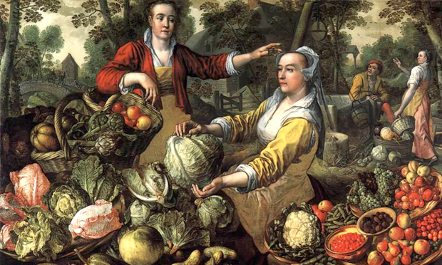 Detail from Joachim Beuckelaer's Earth, one of his series depicting The Four Elements. Image: Wikimedia Commons