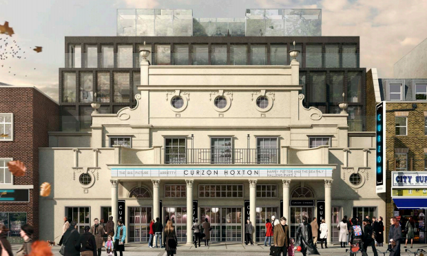 Facade: a mock-up of the new Curzon frontage. Image: Hackney Council