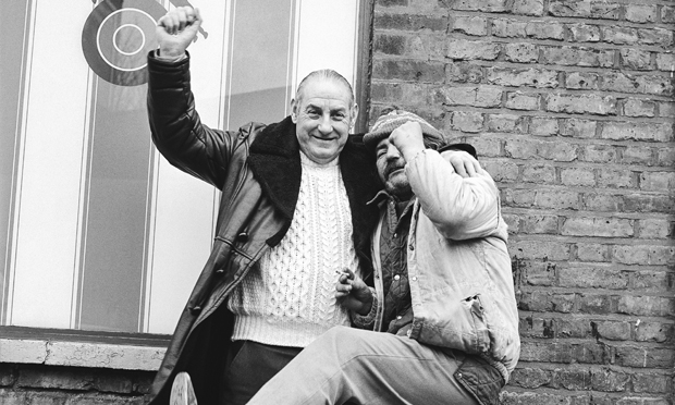 """Two older lads on the razz"": detail from Dalston in the 80s. Photograph: Andrew Holligan."