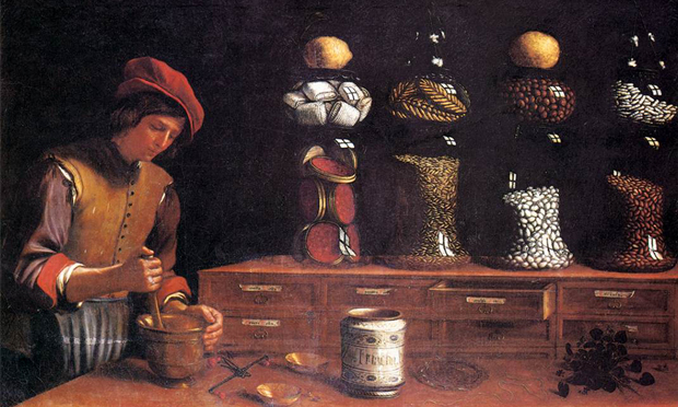 All things nice: detail from Paolo Antonio Barbieri's The Spice Shop (1637). Image: Wikimedia Commons