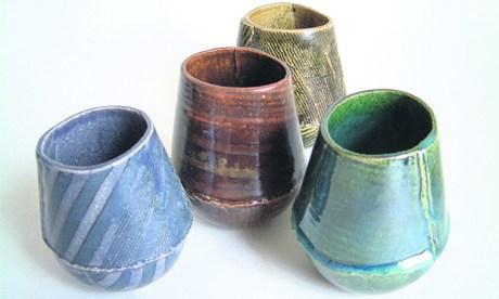 beakers by ceramicist Sarah Hall hoxton hackney turning earth