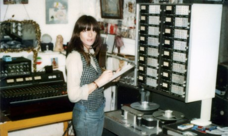 Cosey Fanni Tutti at Industrial Records studio, Martello Street, Hackney, ca 1980. Photo: © Industrial Records