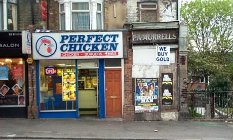 High fry: a chicken shop on Homerton High Street. Photograph: Wikimedia Commons
