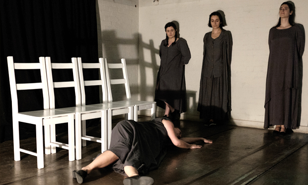 """""""The four women are at the heart of this play"""": The Unburied: The Saint of Darkness. Photograph: Luca Migliore"""