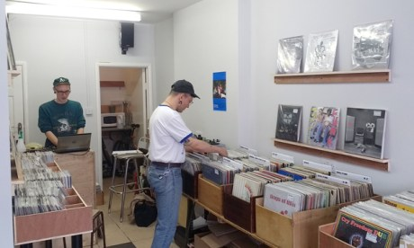 Crate-digging: the no-nonsense interior of Tome Records, a new opening on Graham Road. Photograph: Andrew Fawthrop