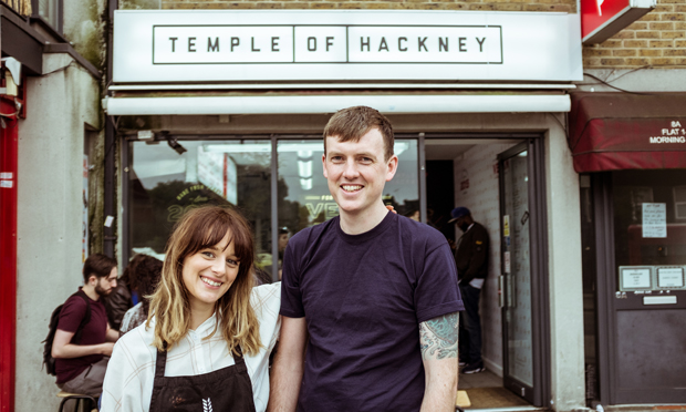 Plant people: proprietors of vegan business Temple of Hackney (Rebecca McGuinness & Pat O'Shea)