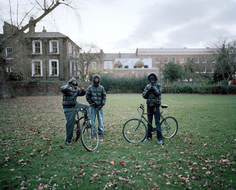 Youths in London Fields, Hackney, November 2011. Photograph: Zed Nelson
