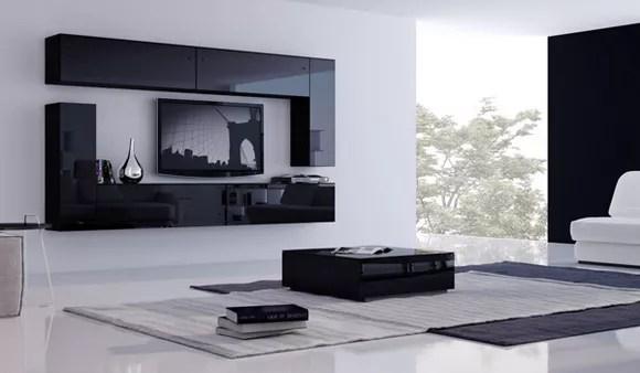 armoire moderne dans le salon options