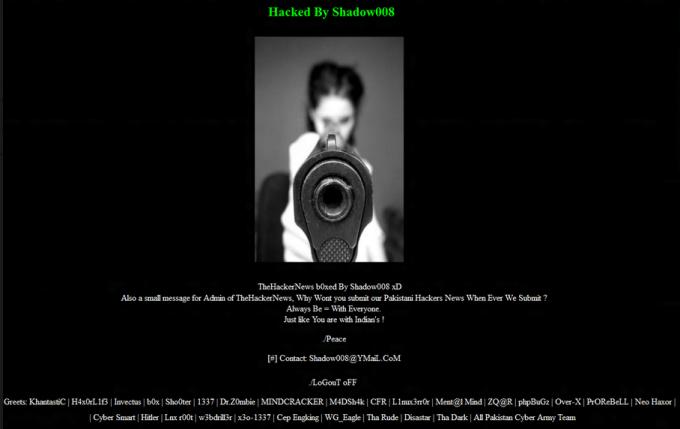 The Hacker News Thn Hacked By Pakistani Hacker Shadow008