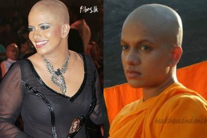 Sangeetha Weeraratne Headshave in Uppalavanna Movie