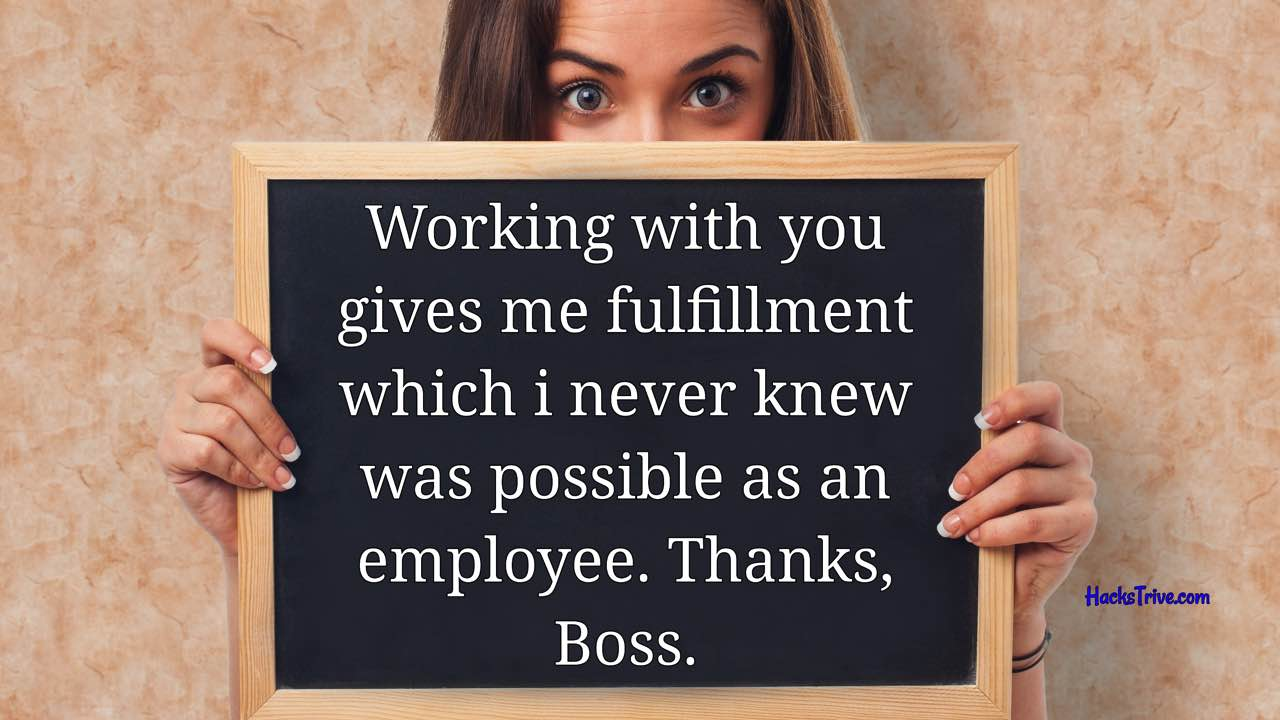 Thank You Messages For Boss Inspirational Short Funny
