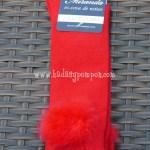 Calcetín Pompón - Rojo